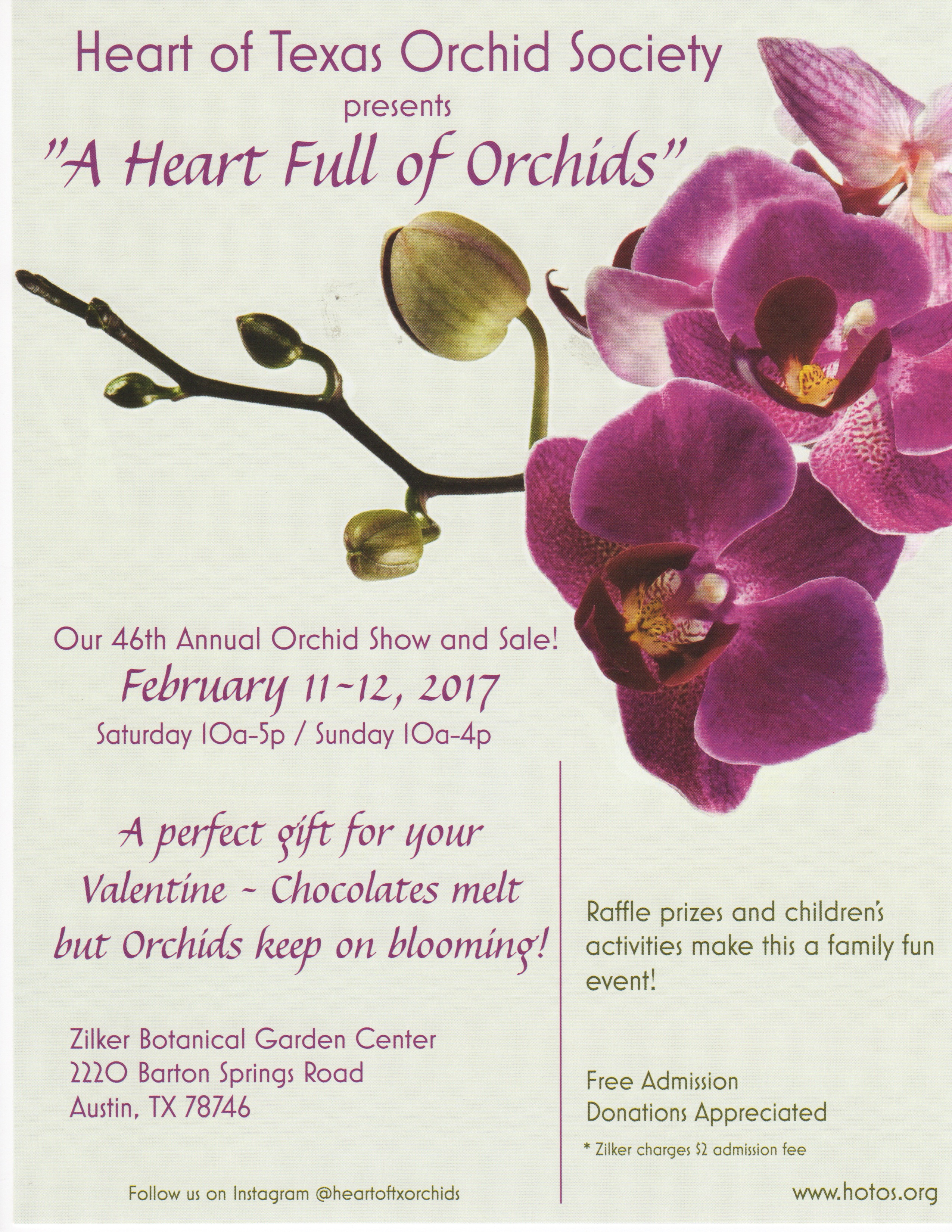 Events - Heart of Texas Orchid Society